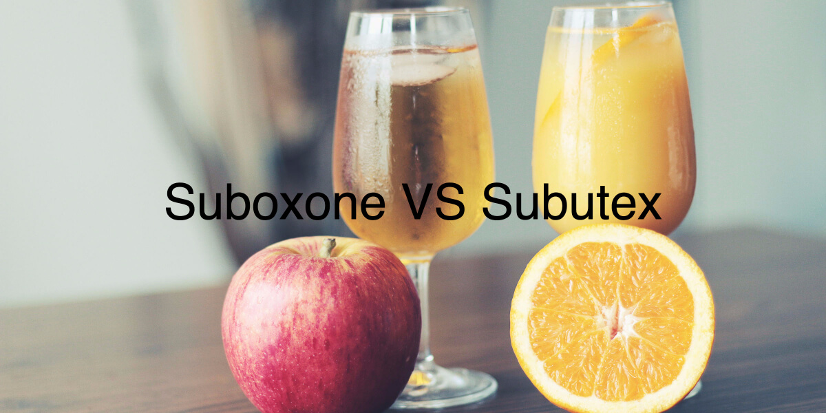 Suboxone VS Subutex