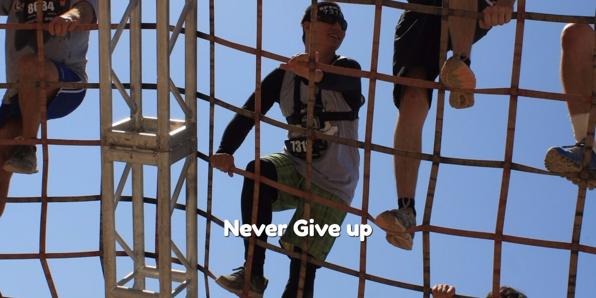 Never give up on yourself