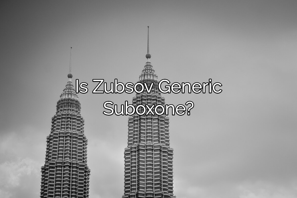 Is Zubsolv Generic For Suboxone?