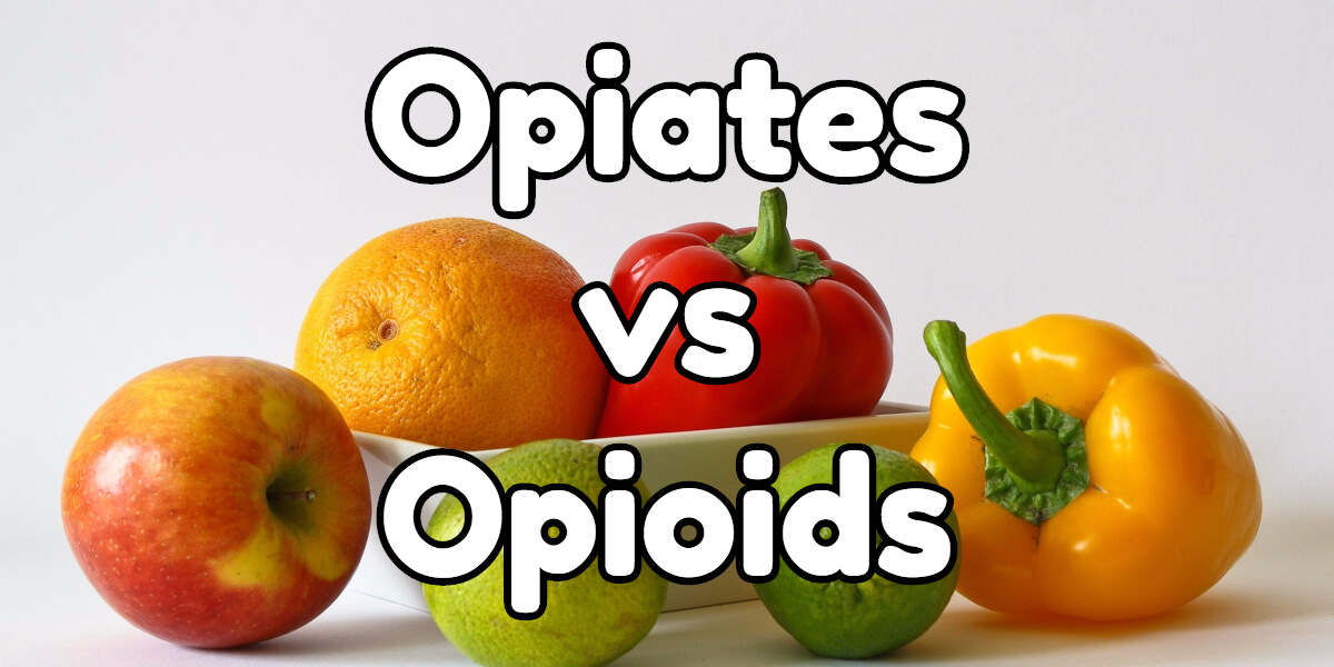 Opiate VS Opioid. What is the difference?